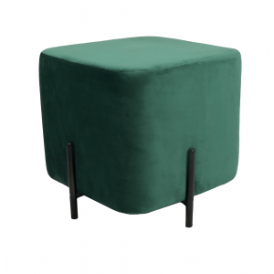 DL RUBIK POUF GREEN BLACK LEGS