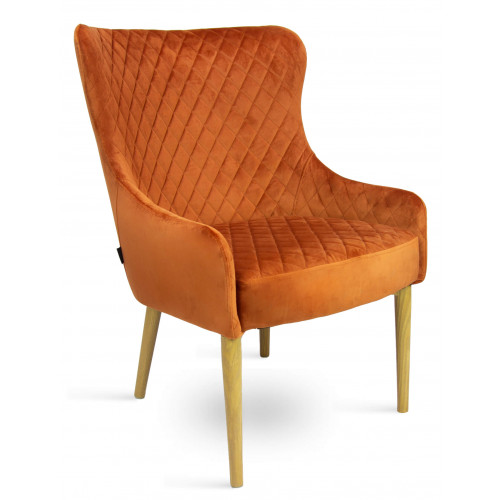 DL CRYSTAL ARMCHAIR COGNAC OAK